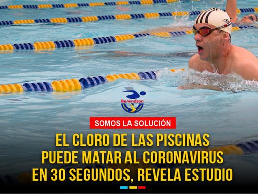 Estudio revela que el cloro de las piscinas puede matar al coronavirus en 30 segundos