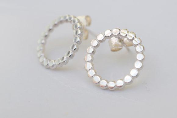 lace circle earrings
