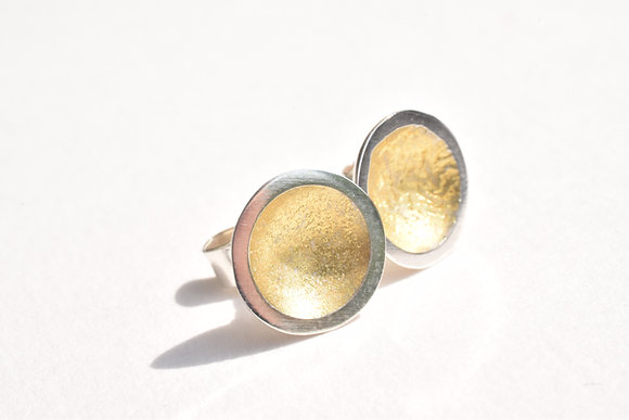 Gold Centre Cup Studs