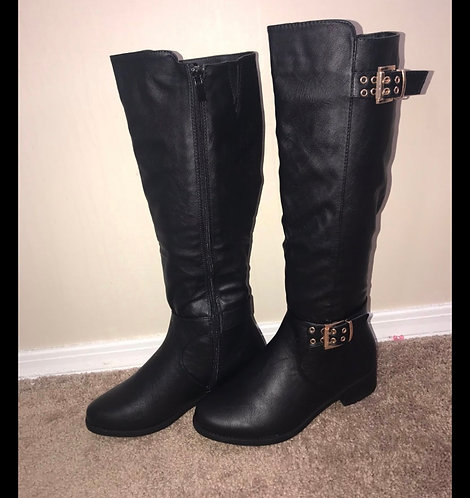 Black Boots w/ Gold Buckle