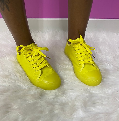 """Lemon"" Yellow Sneaker"