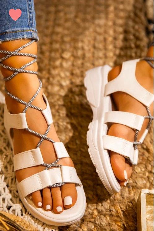 """COOL"" White Sandal"