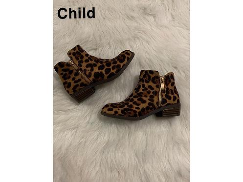 """Cub"" Kids Leopard Print Bootie"