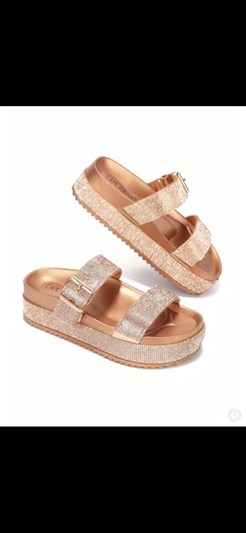 """GLAM"" Rose Gold Sandal"