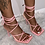 "Thumbnail: ""BUBBLEGUM"" Pink Strappy Heel"