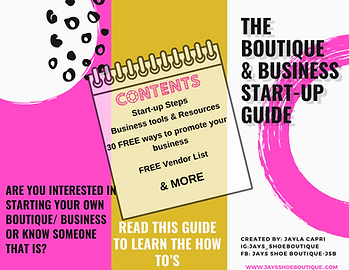 Boutique & Business Start-Up Guide