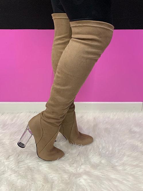 """Slay"" Nude Knee High Boot"