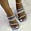 "Thumbnail: ""SKYE"" Blue Spike Heel"