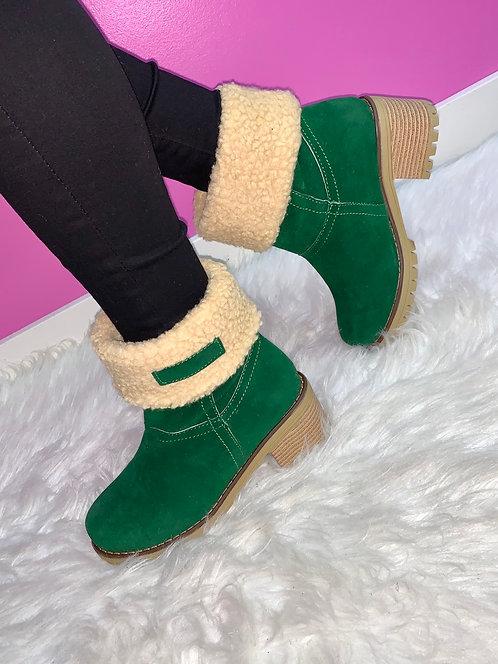 """JADE"" Green Boot"