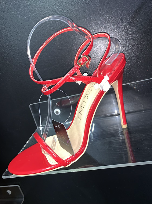 """ROSE"" Red Strappy Heel"