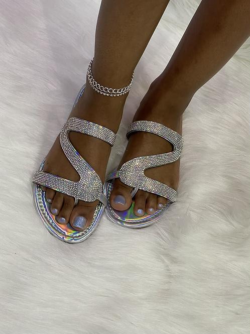 """""""SHIMMER"""" Diamond Sandal"""