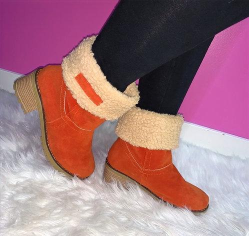 """ALANI"" Orange Boot"