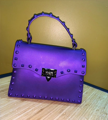 Purple Studded Purse