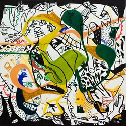 sojin park , canvas 70 x70cm, 2016
