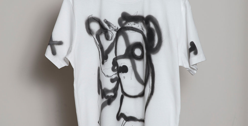 Face Hand painted T-shirts Nr 10