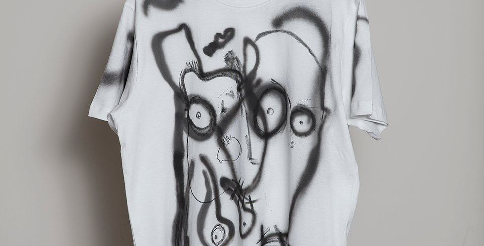 Face Hand painted T-Shirts Nr 9