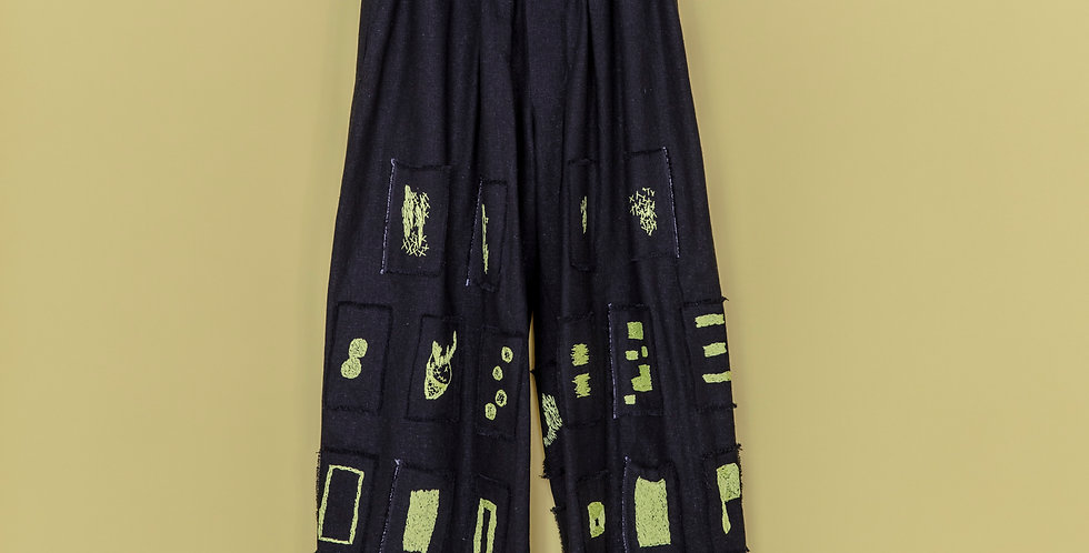 Patchwork hand stitched Pants
