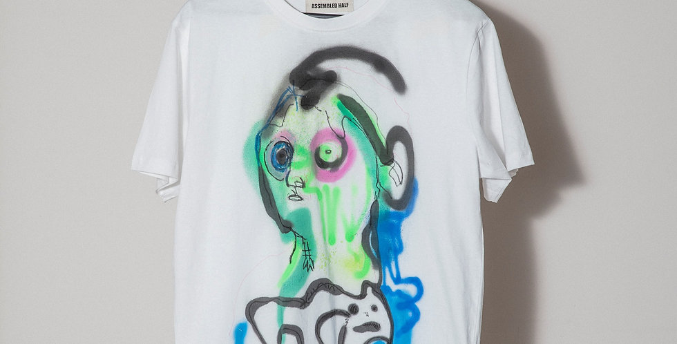 Face Hand painted T-Shirts Nr.12