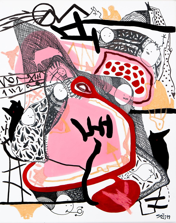 canvas 40x50cm,2016,sojin park