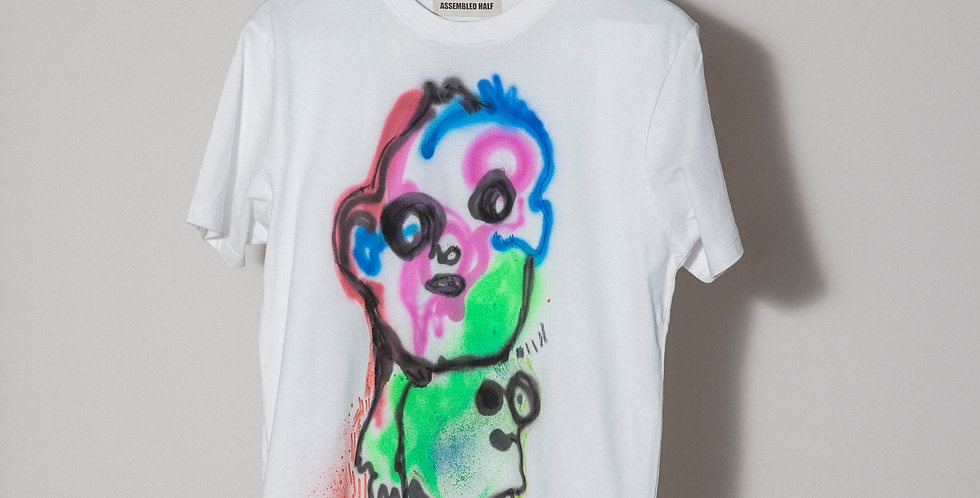 Face Hand painted T-Shirts Nr14