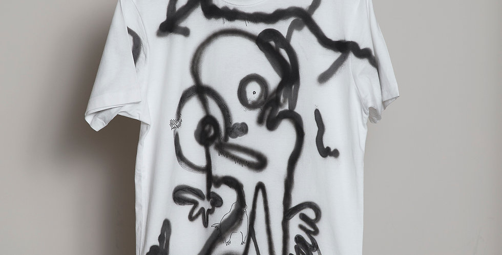 Face Hand painted T-Shirts Nr