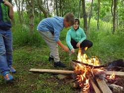 elemental play, learning about fire