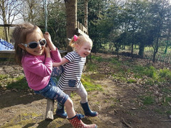 Rope swing outdoor play