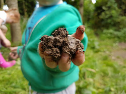 Muddy Play at nature kindergarten