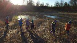 Children exploring wild spaces
