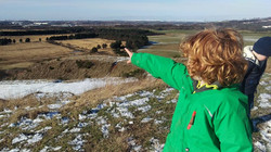 Child enjoys the view over west lothian