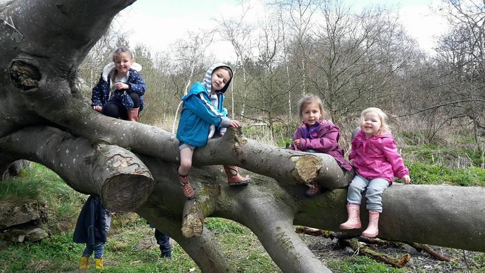 Children at forest school Bathgate