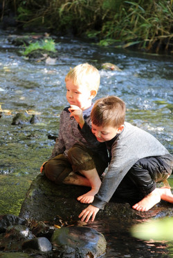 Water affordance in elemental play at forest school