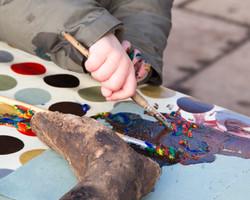 Nursery outdoor arts and crafts in Scotland