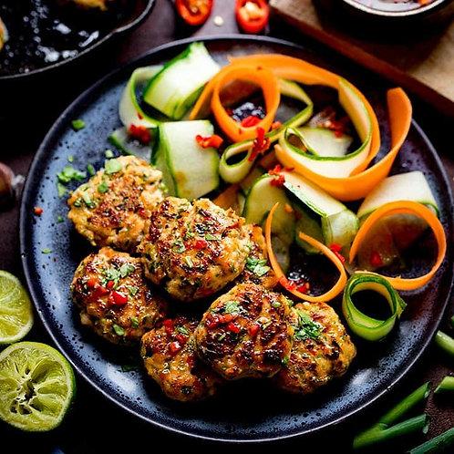 Monday night meal for 2 -Thai salmon fishcakes