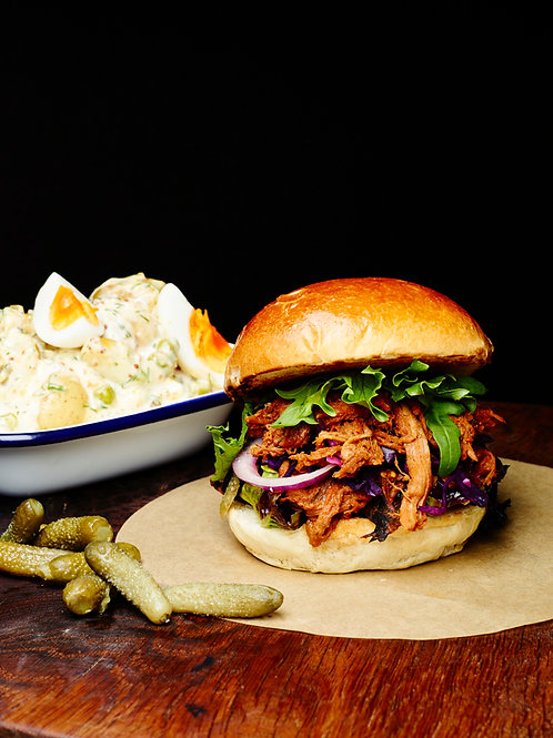 Brisket Buns with truffled Mac & cheese