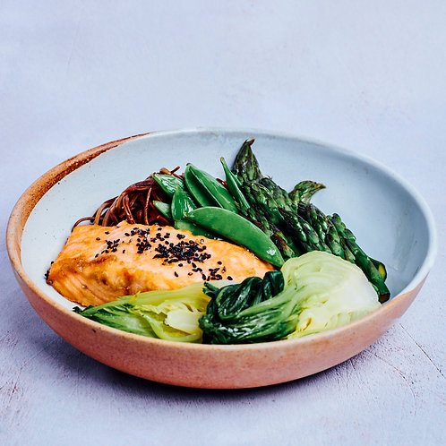 Miso Glazed Salmon Portion