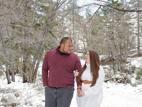Big Bear Mountain Winter Engagement Session