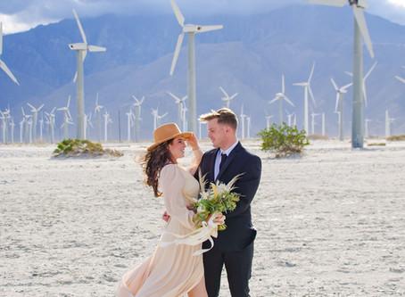 Palm Springs Wind Farm Elopement