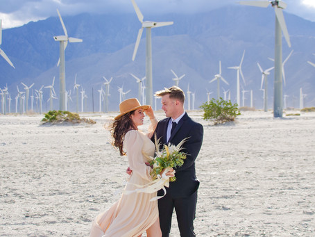 Palm Springs Wind Farm Elopement
