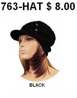 763-HAT  BLACK