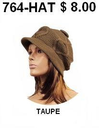 764-HAT TAUPE
