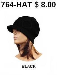 764-HAT BLACK