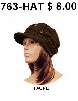 763-HAT TAUPE