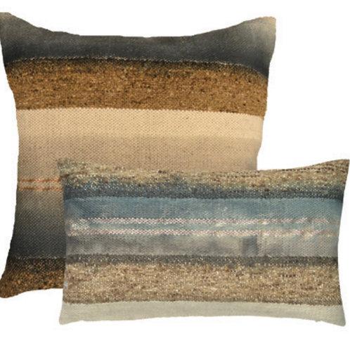Aviva Stanoff Wild Silk in Slate Cushion
