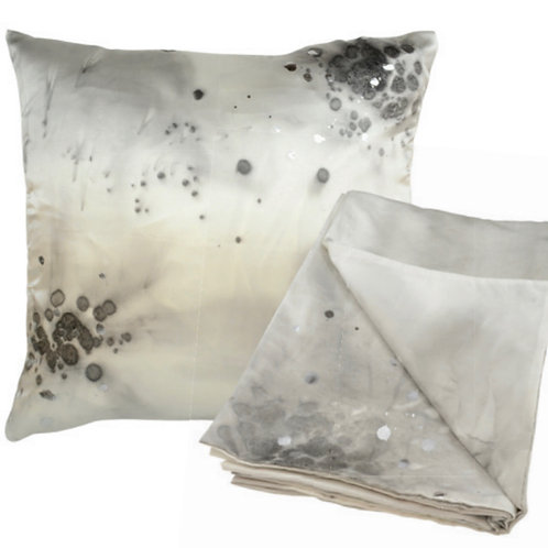 Aviva Stanoff Charcoal Stardust with Silver Detail Cushion