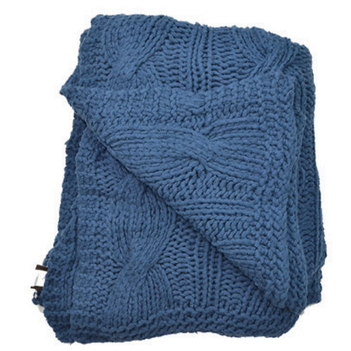 Aviva Stanoff Cotton Cable Knit Denim
