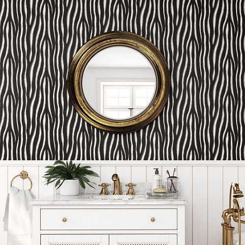 Charlotte Jade Zebra Print Wallpaper