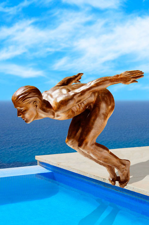 Danielle Anjou Sculpture - The Swimmer