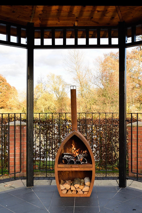 Outdoor Poole Fireplace in Rust H154