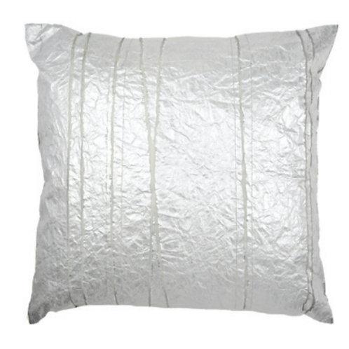 Aviva Stanoff Exotics Tissue Silk in Silver Chrome Cushion